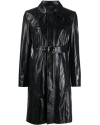 Maison Margiela Belted Trench Dress - Black