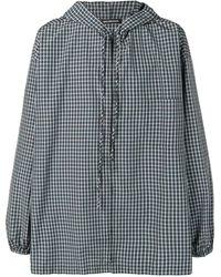 Balenciaga フーデッド オーバーサイズ シャツ - マルチカラー