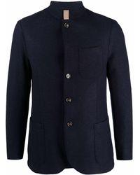 Eleventy マンダリンカラー シングルジャケット - ブルー