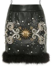 Fausto Puglisi - Jewelled Mini Skirt - Lyst