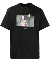 Throwback. Wonder スローガン Tシャツ - ブラック