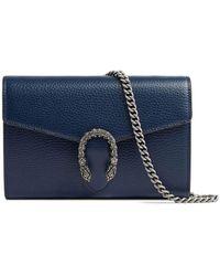 Gucci Dionysus Leren Mini Ketting Tas - Blauw