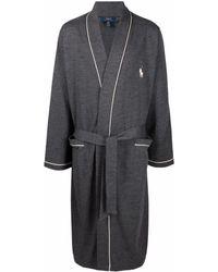 Polo Ralph Lauren Халат С Вышивкой - Серый