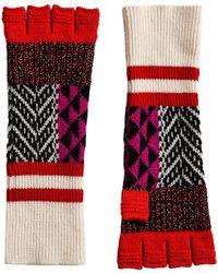 Burberry   Fingerless Patchwork Gloves   Lyst