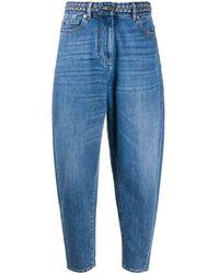 Valentino ハイライズ テーパードジーンズ - ブルー