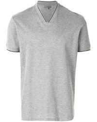 Lanvin - Piqué V-neck T-shirt - Lyst