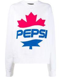 DSquared² #d2xpepsi Logo Print Sweatshirt - White