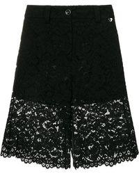 Twin Set - Lace Panel Shorts - Lyst