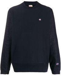 Champion Reverse Weave Crew Neck Sweatshirt - Blue