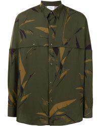 Ferragamo Рубашка С Камуфляжным Принтом - Зеленый