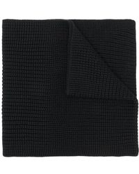 Woolrich - Logo Patch Knitted Scarf - Lyst