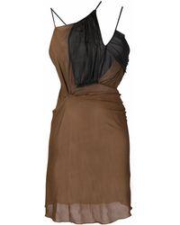 Nensi Dojaka ドレープ ドレス - ブラウン