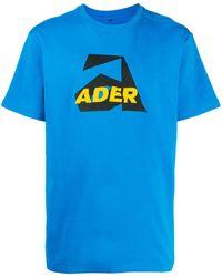 ADER error Aspect ロゴ Tシャツ - ブルー