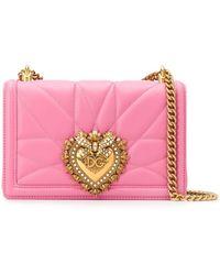 Dolce & Gabbana Сумка На Плечо Devotion - Розовый