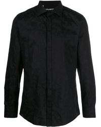 Dolce & Gabbana Baroque-printed Shirt - Black