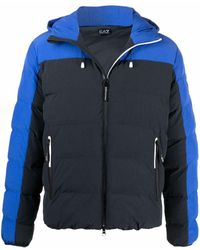 EA7 バイカラー パデッドジャケット - ブルー