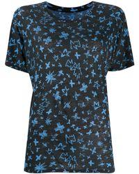 Zadig & Voltaire T-shirt Aria Cross imprimé - Noir