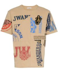 JW Anderson - University Logo Print And Embroidered Cotton T Shirt - Lyst