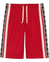 Gucci Technical Jersey Shorts - Red