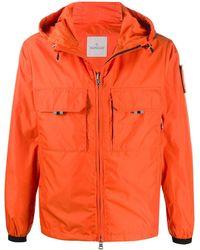 Moncler Patch drawstring hood jacket - Orange