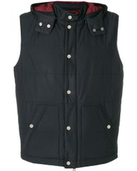 Eleventy - Hooded Gilet - Lyst