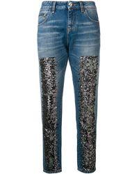 Philipp Plein Glitter Skinny Jeans - Blue