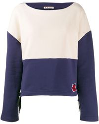 Marni Two-tone Sweatshirt - Blue