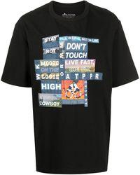 Moose Knuckles パッチワーク Tシャツ - ブラック