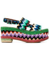 Missoni - Zigzag Print Platform Sandals - Lyst