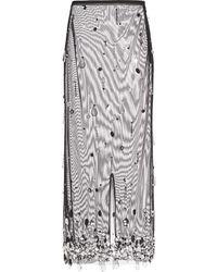 Miu Miu Crystal-embellished Sheer Tulle Skit - Black