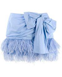 N°21 Bow Mini Skirt - Blue