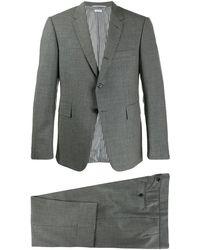 Thom Browne Traje de dos piezas con corbata - Gris