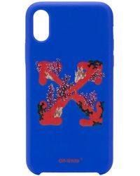 Off-White c/o Virgil Abloh Corals-print Iphone 11 Pro Case - Blue