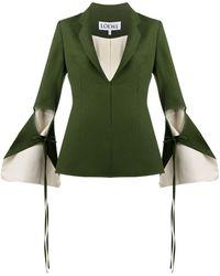 Loewe Tie-cut Panel Sleeve Jacket - Green