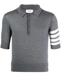 Thom Browne Рубашка-поло С Полосками 4-bar - Серый