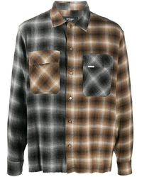 Represent Фланелевая Рубашка В Клетку Тартан - Коричневый
