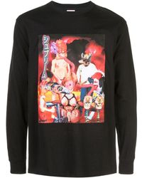 Supreme T-Shirt mit grafischem Print - Schwarz