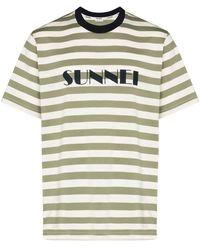 Sunnei - ロゴ ボーダーtシャツ - Lyst
