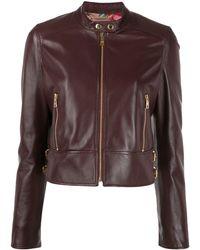 Dolce & Gabbana Укороченная Байкерская Куртка - Красный