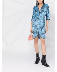 Liu Jo Vネック シャツドレス - ブルー