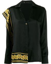 Versace Blouse Met Barok Print - Zwart