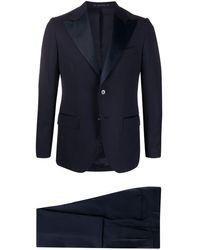 Bagnoli Sartoria Napoli Slim Fit Two-piece Dinner Suit - Blue