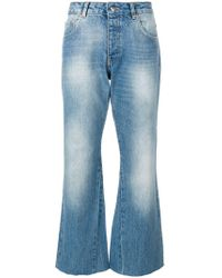 Anine Bing - Stella Faded Wash Cropped Jeans - Lyst