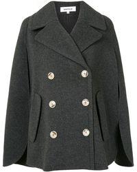 Enfold ダブル ケープジャケット - ブラック