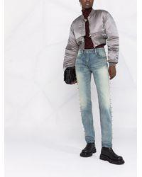Givenchy スタッズ ストレートジーンズ - ブルー