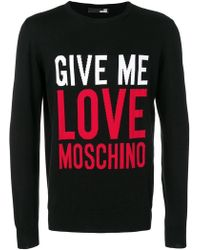 29be69e7 Lyst - KENZO 'i Love U' Knit Sweater in Black for Men
