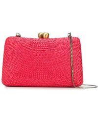 Serpui Charlotte Woven Clutch Bag - Red