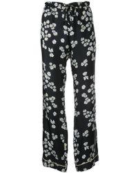 Macgraw He Loves Me Not Pajama Pants - Black