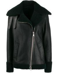 Karl Lagerfeld シアリングジャケット - ブラック