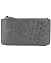 Maison Margiela Zipped Card Holder - Gray
